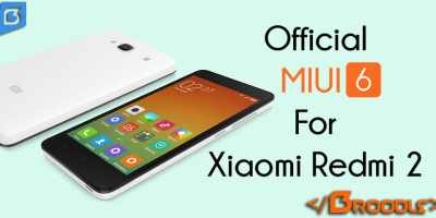 Official MIUI 6 For Xiaomi Redmi 2