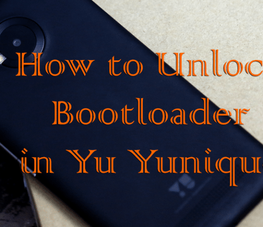 Unlock Bootloader in Yu Yunique