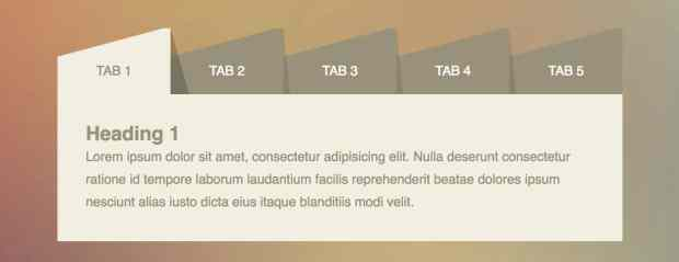 Responsive UI Tabs Using CSS