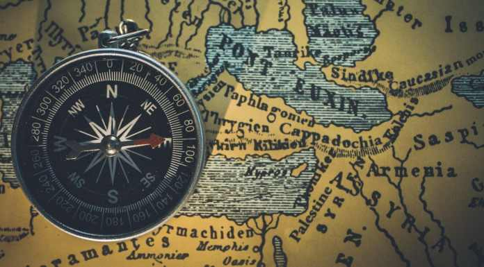 GPS Devices Compass Map