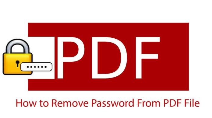 How to Remove Password from a PDF File