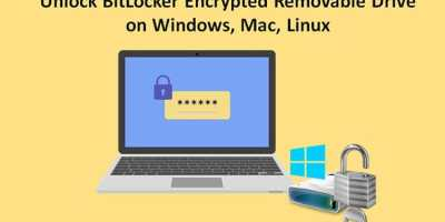 unlock BitLocker drive on Windows Mac Linux