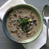 Mushroom, Leek, & Wild Rice Soup