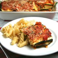 Roasted Zucchini Parmesan with Fresh Tomato Sauce