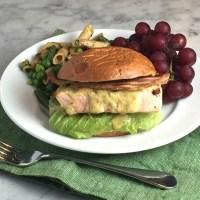 Grilled Glazed Salmon & Bacon Sandwiches