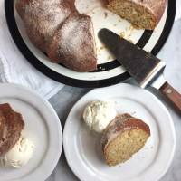 Apple-Cider Doughnut Cake