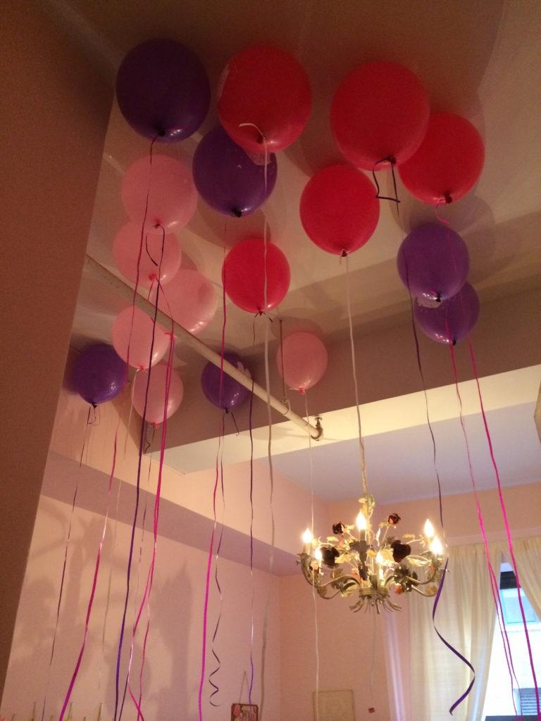birthday morning balloons
