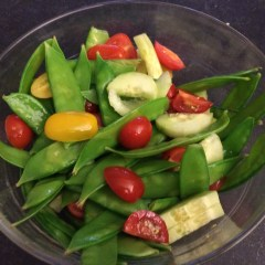 Snap Pea, Tomato, and Cucumber Salad