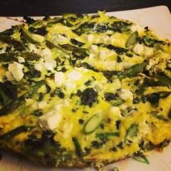 Asparagus, Kale, and Feta Frittata