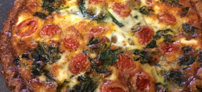 Spinach, Tomato, and Goat Cheese Quiche