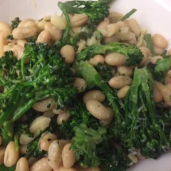 Broccolini with White Beans