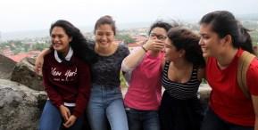 From left to right: Qiara Guiterrez, Sofia Torrano, Gianna Iglesia, Me, and Elaine Caoibes.