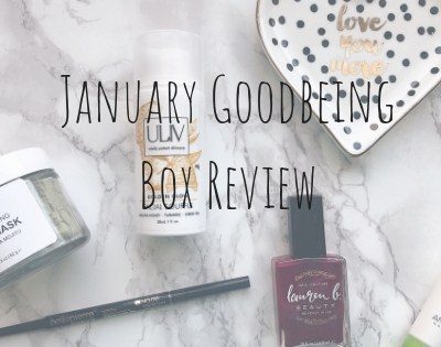 January Goodbeing Box Review!