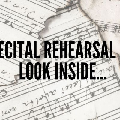 A Little Peek Inside My Rehearsal for My Spring/Summer Recital…