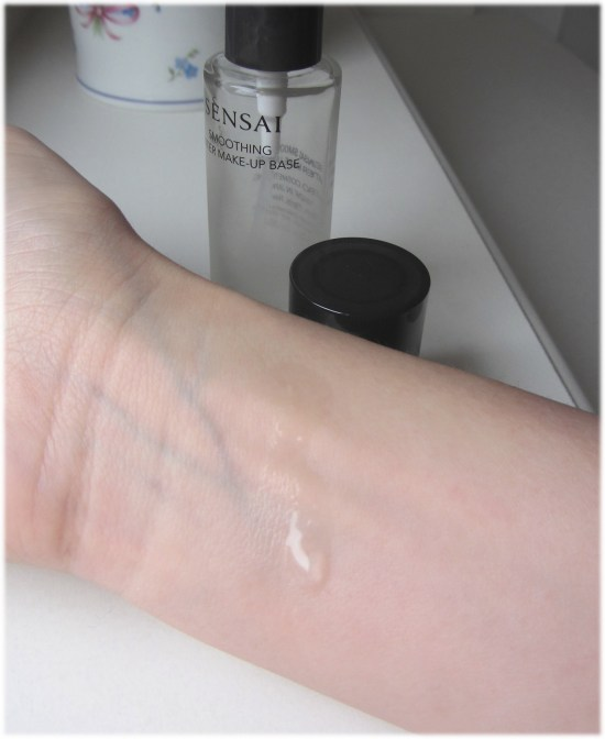 Kanebo Water Make-up Base swatch unblended 2