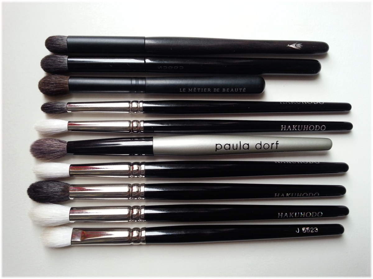 My favourite eyeshadow blending brushes - Hakuhodo, Suqqu, Paula Dorf, LMdB