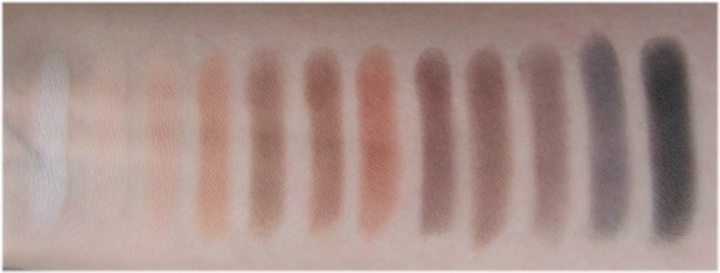 Viseart Neutral Matte eyeshadow palette swatches 1