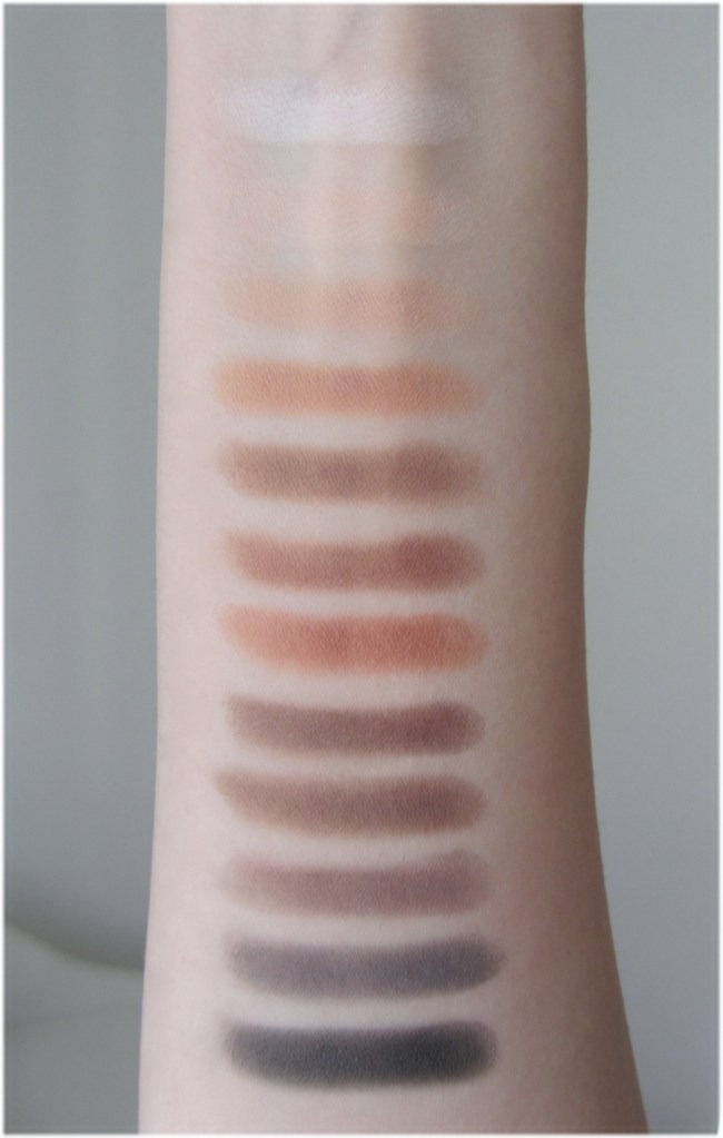 Viseart Neutral Matte eyeshadow palette swatches 2