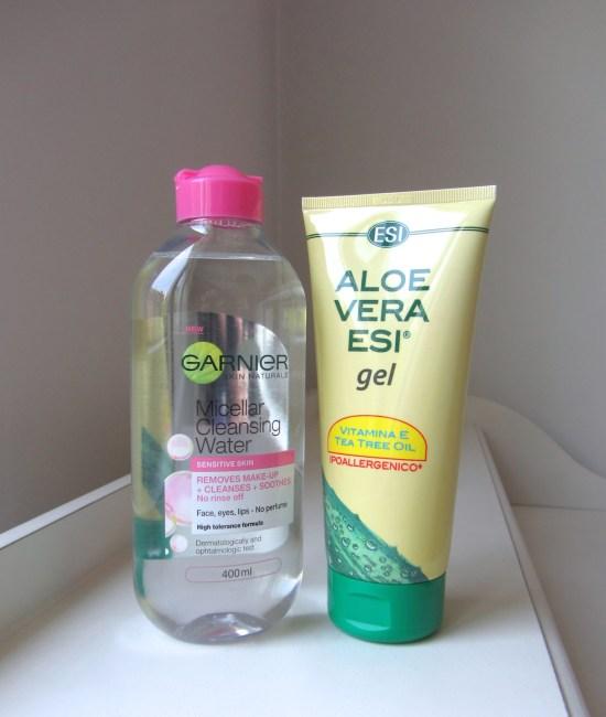 Garniel Micellar Water & ESI Aloe Vera Gel