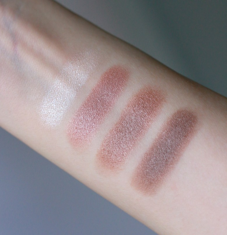 Rouge Bunny Rouge Eye Shadow Palette Quartet in Antigo swatches 1
