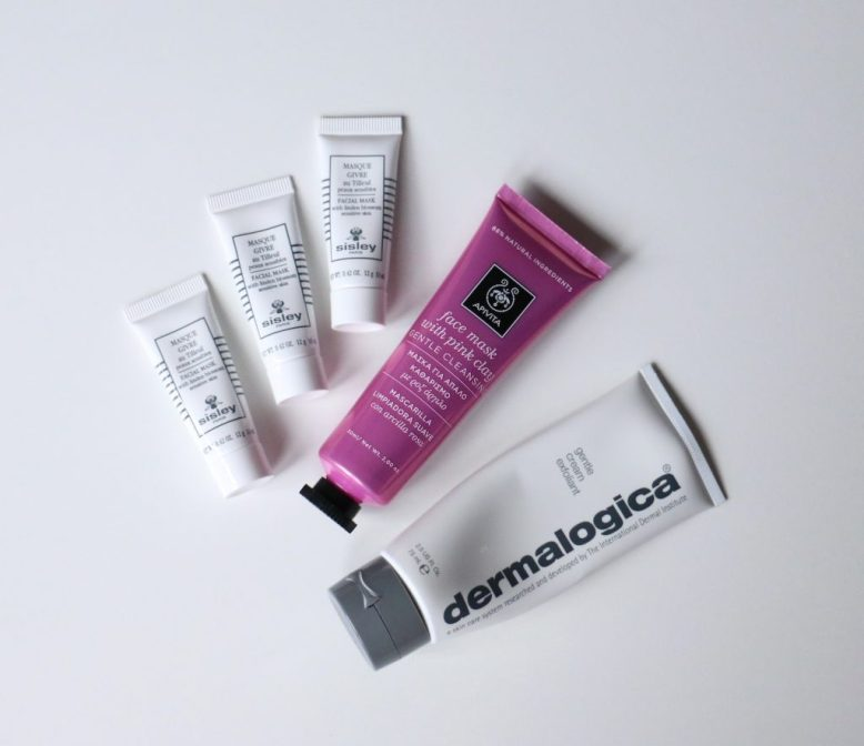 Sisley Lined Blossom, Apivita Pink Clay, Dermalogica Gentle Cream Exfoliant