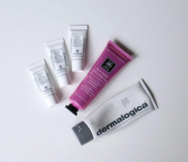 Sisley Lined Blossom, Apivita Pink Clay, Dermalogica Gentle Cream Exfoliant