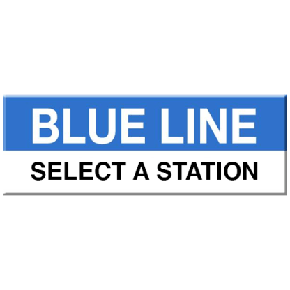 Blue Line Magnet (Select a Station)