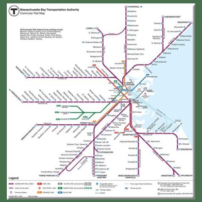 MBTA Commuter Rail Map Magnet