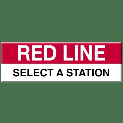 Red Line Magnet (Select Station)