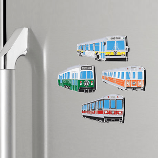 MBTA Vehicle Magnets