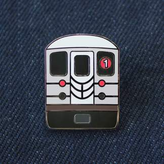 NYC Subway 1 Train Pin