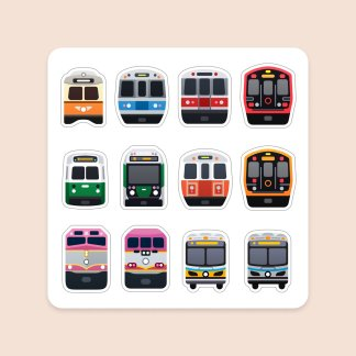 Boston Transit Magnet Sheet