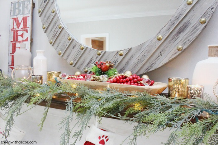 DIY- Christmas Mantel Decorating Ideas • The Budget Decorator