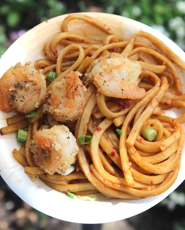 spicy garlic shrimp from epcot food wine festival