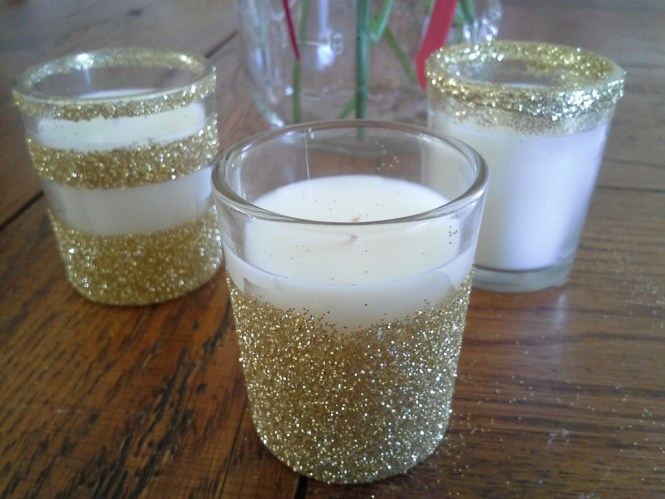 Glitter Candles Easy Diy Christmas Decorations That You Can Make In Less Than 30 Minutes