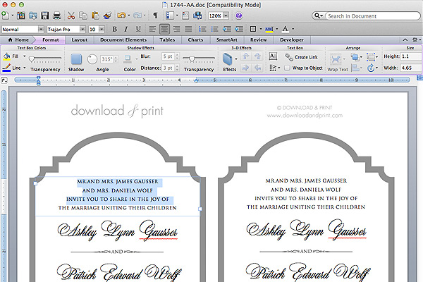Free Printable Cut Wedding Invitation Add Your Text