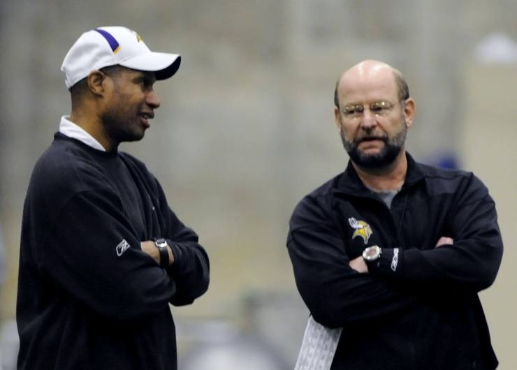 Leslie Frazier and Brad Childress