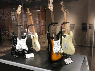 """""""GUITAR: The Instrument That Rocked The World"""" features a number of autographed guitars, including one by blues legend B.B. King."""
