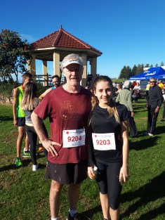 The beautiful weather brought Bernard Keoghan and his daughter Sarah down from Gymea especially for the 9km event, showing the potential of the Fun Run to attract participants from Sydney