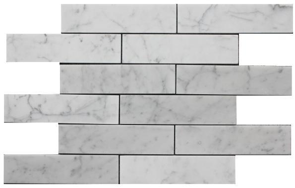 8 cararra bianco marble tiles