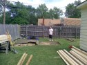 shed yard before