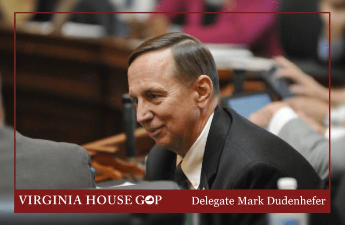 Delegate Mark Dudenhefer will not run again