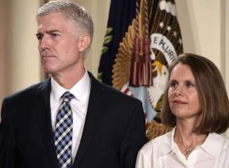 Neil Gorsuch and his wife Marie Louise Gorsuch