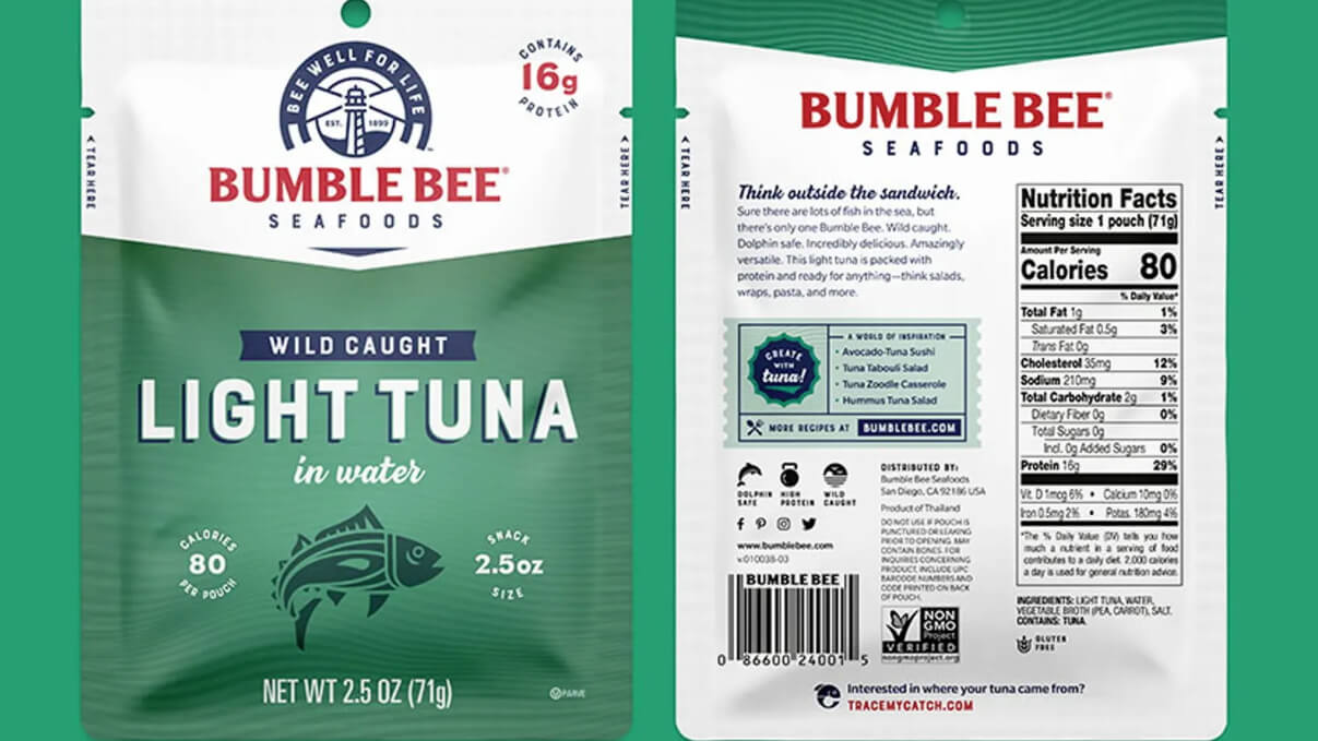 Bumble Bee's new packaging wins design award