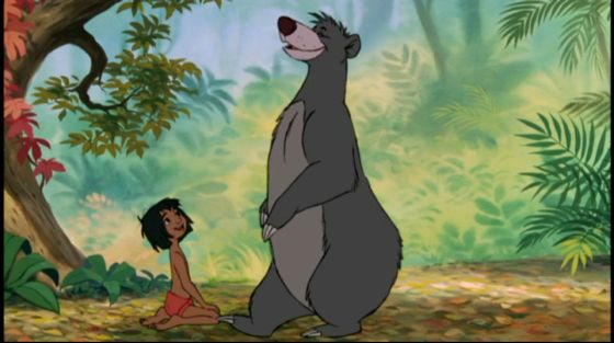 Mowgli and Baloo from The Jungle Book