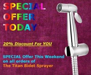 titan bidet sprayer special offer