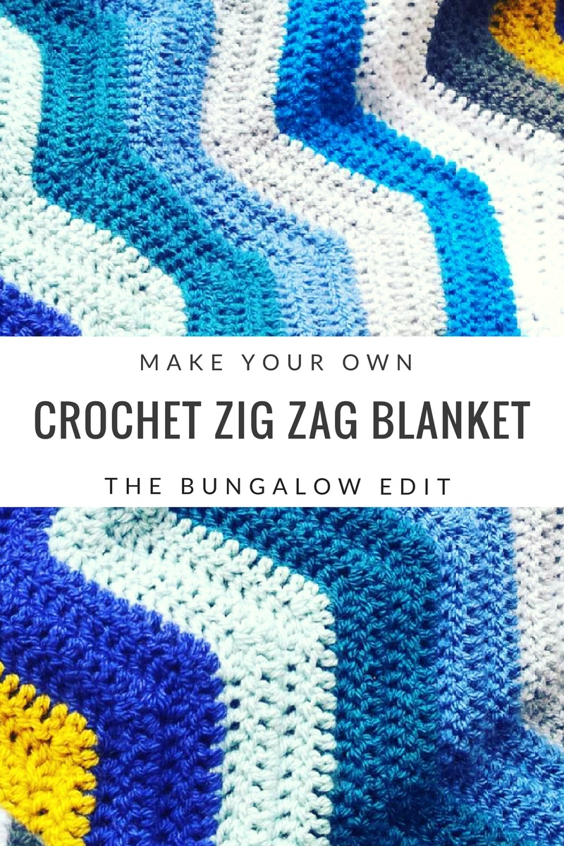 Zig Zag Crochet Blanket Pattern Best Design