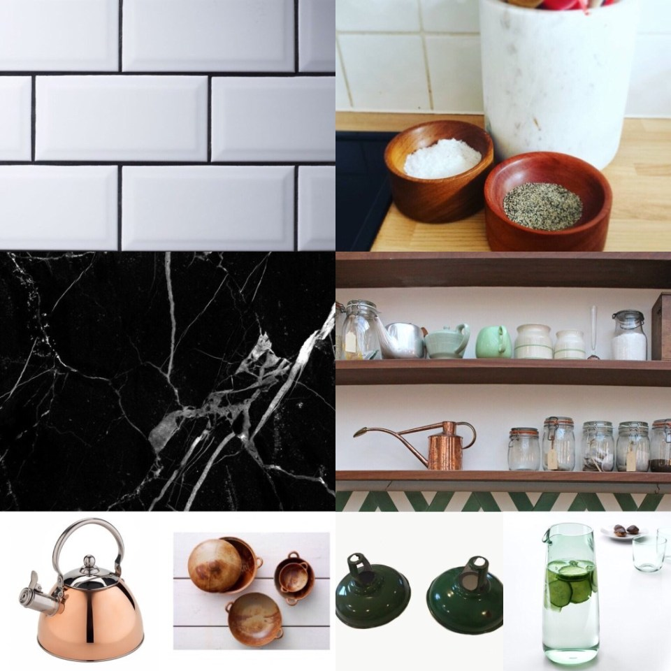 The Bungalow edit - Kitchen moodboard