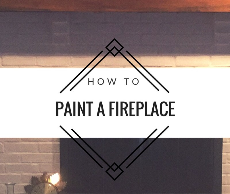 How to: Paint a brick fireplace