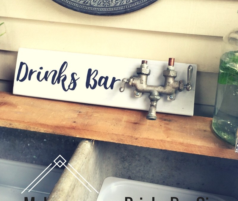 Make your own: Drinks Bar sign